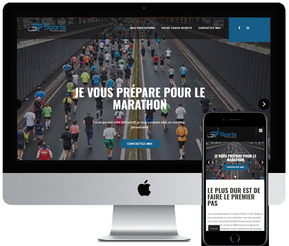 Sports Performance, refonte du site desktop et mobile