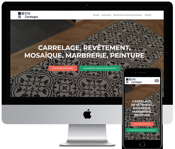 CFG Carrelages, site desktop et mobile par Digifirst