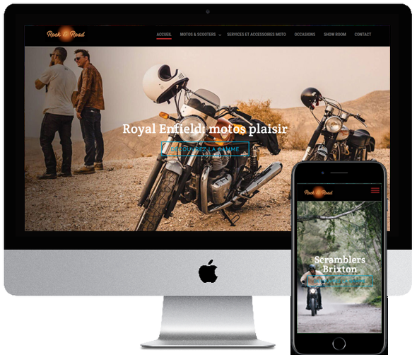 Rock and Road, site desktop et mobile par Digifirst